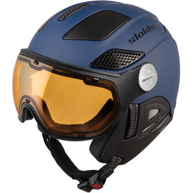 Slokker Raider Free Ski Helmet with Polarizing Visor night blue